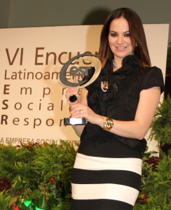 Mariné Rodríguez Azuara at the ESR award ceremony