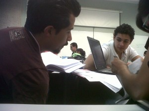 Students at responsible management course in 2009