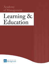 Academy of Management Learning and Education Cover